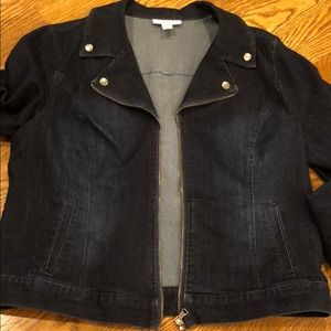 Style & Co Denim Jacket. Zip Front